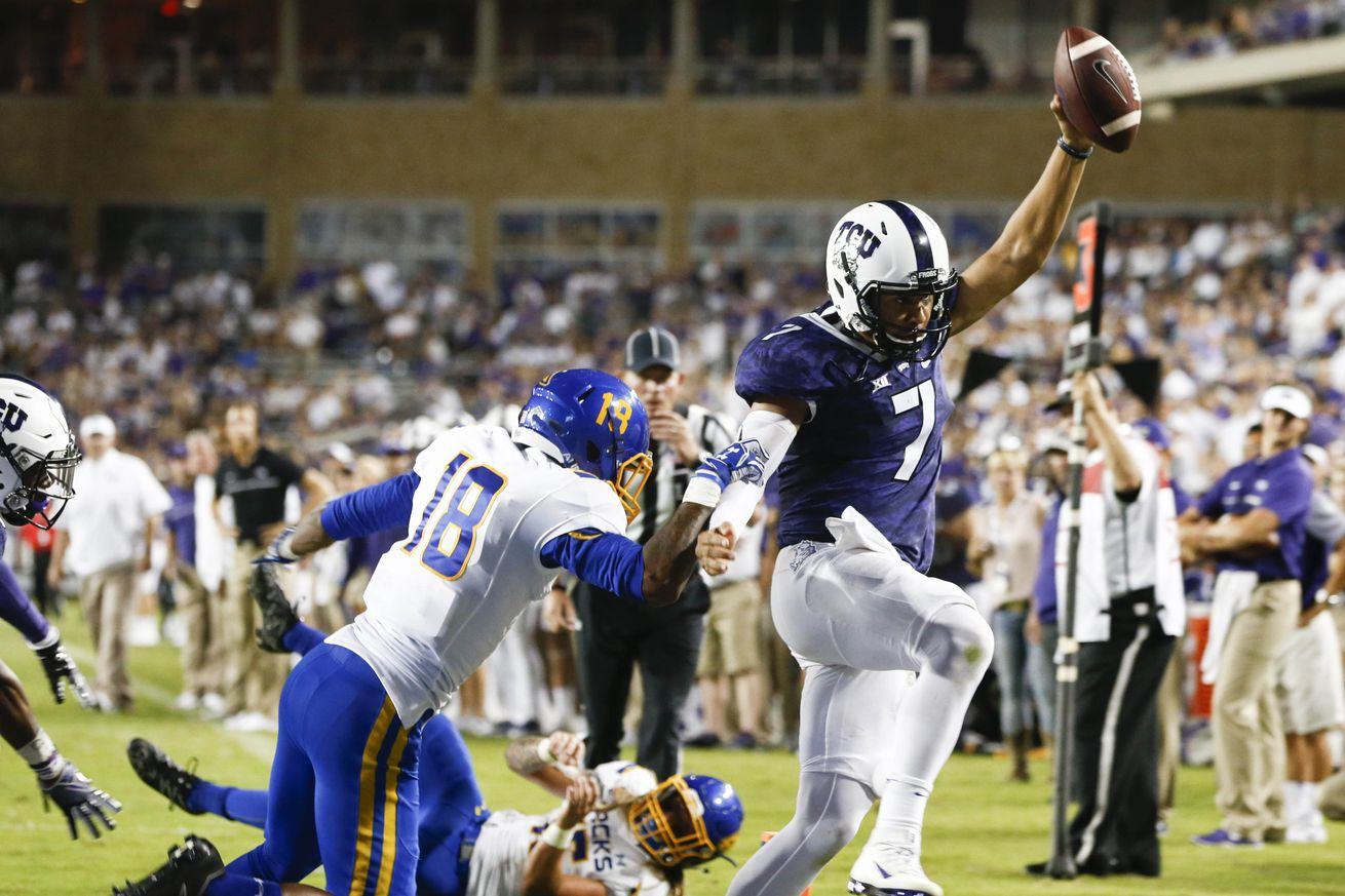 No. 13 TCU Pulls Away From South Dakota St. Late 59-41