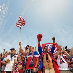 The American Outlaws came out in full force last night.