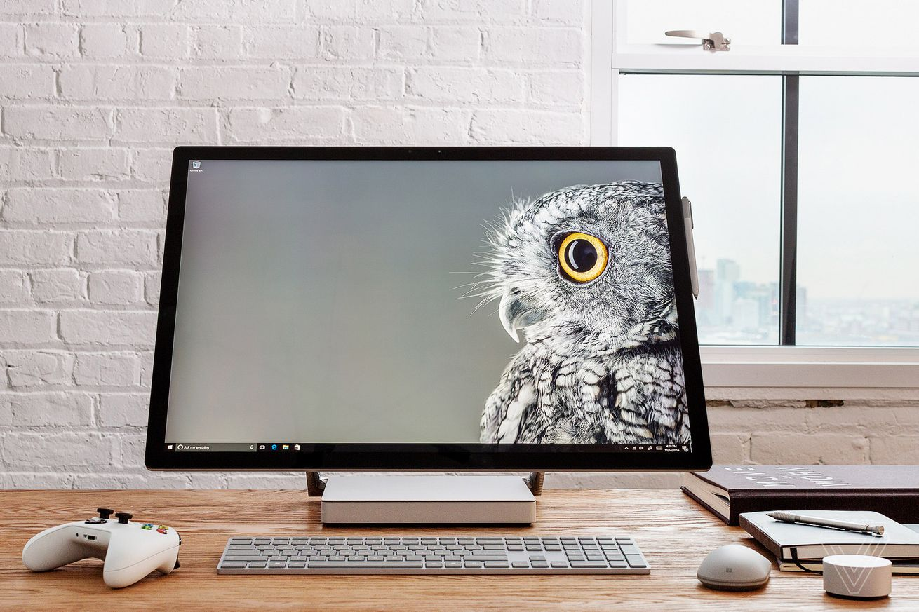 You can now shout 'hey Cortana' to wake up the Surface Studio