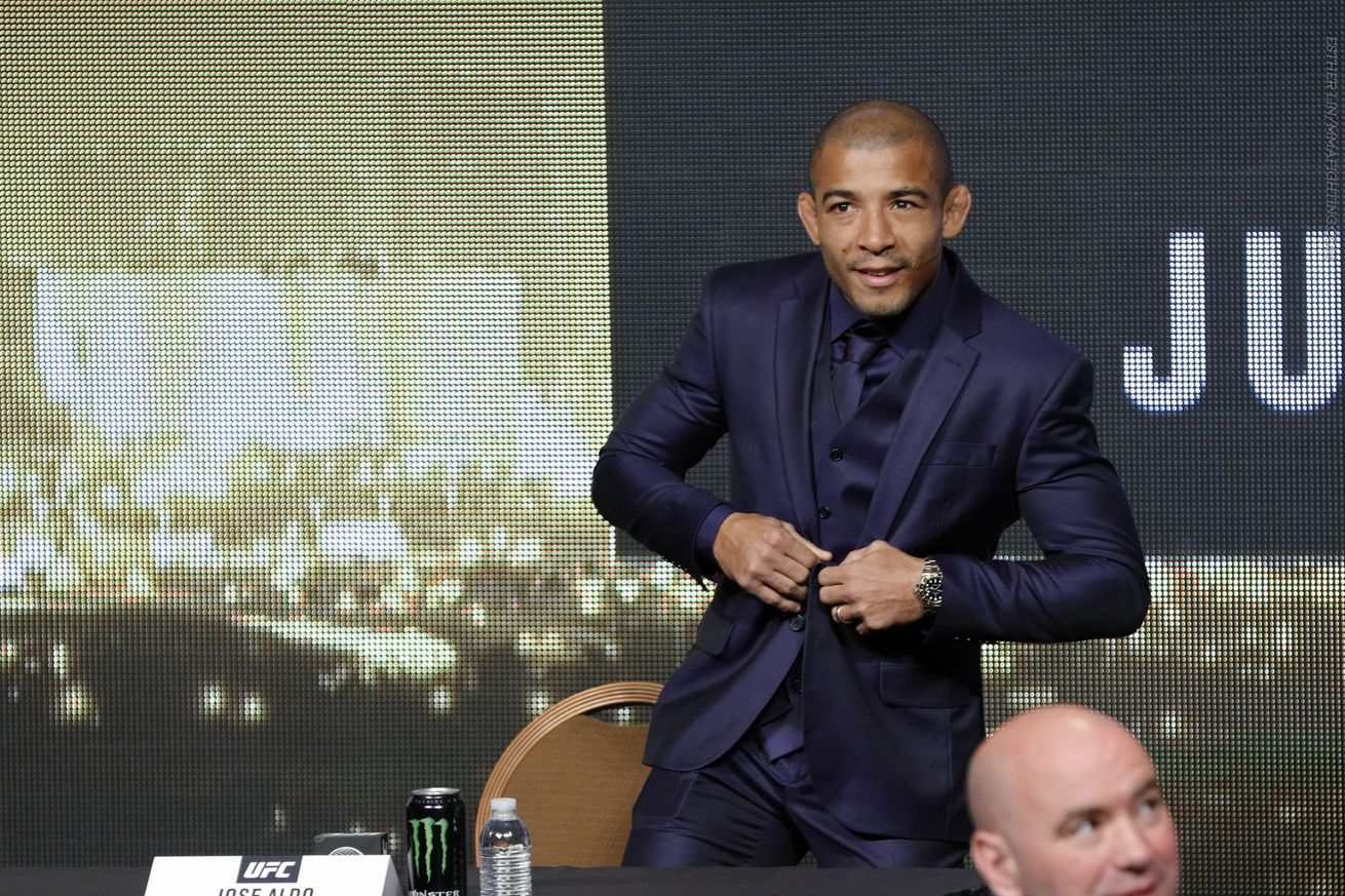 Jose Aldo says it's not worth it being the good guy anymore: Talking makes the fight bigger