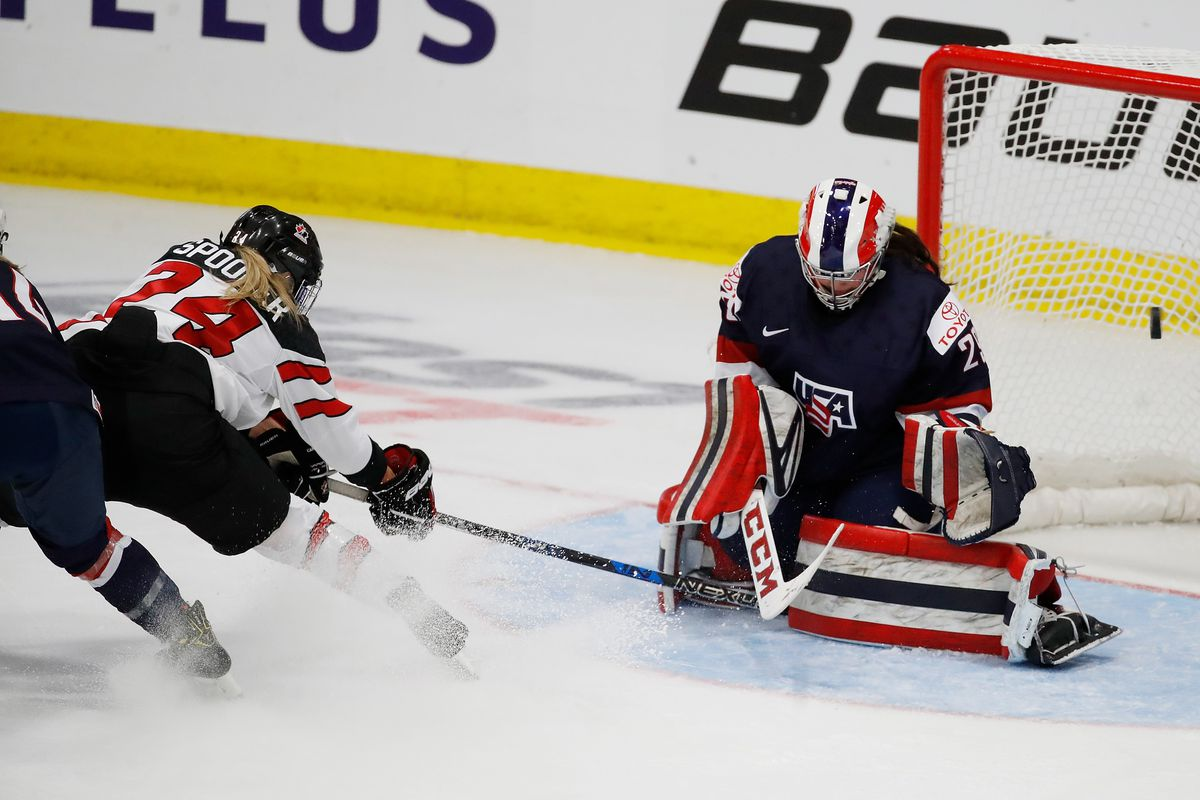 Canada falls 2-0 to United States  to open women's world hockey championship