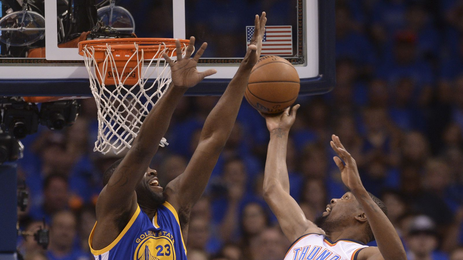 NBA Western Conference Finals: Warriors trail Thunder 53 ...