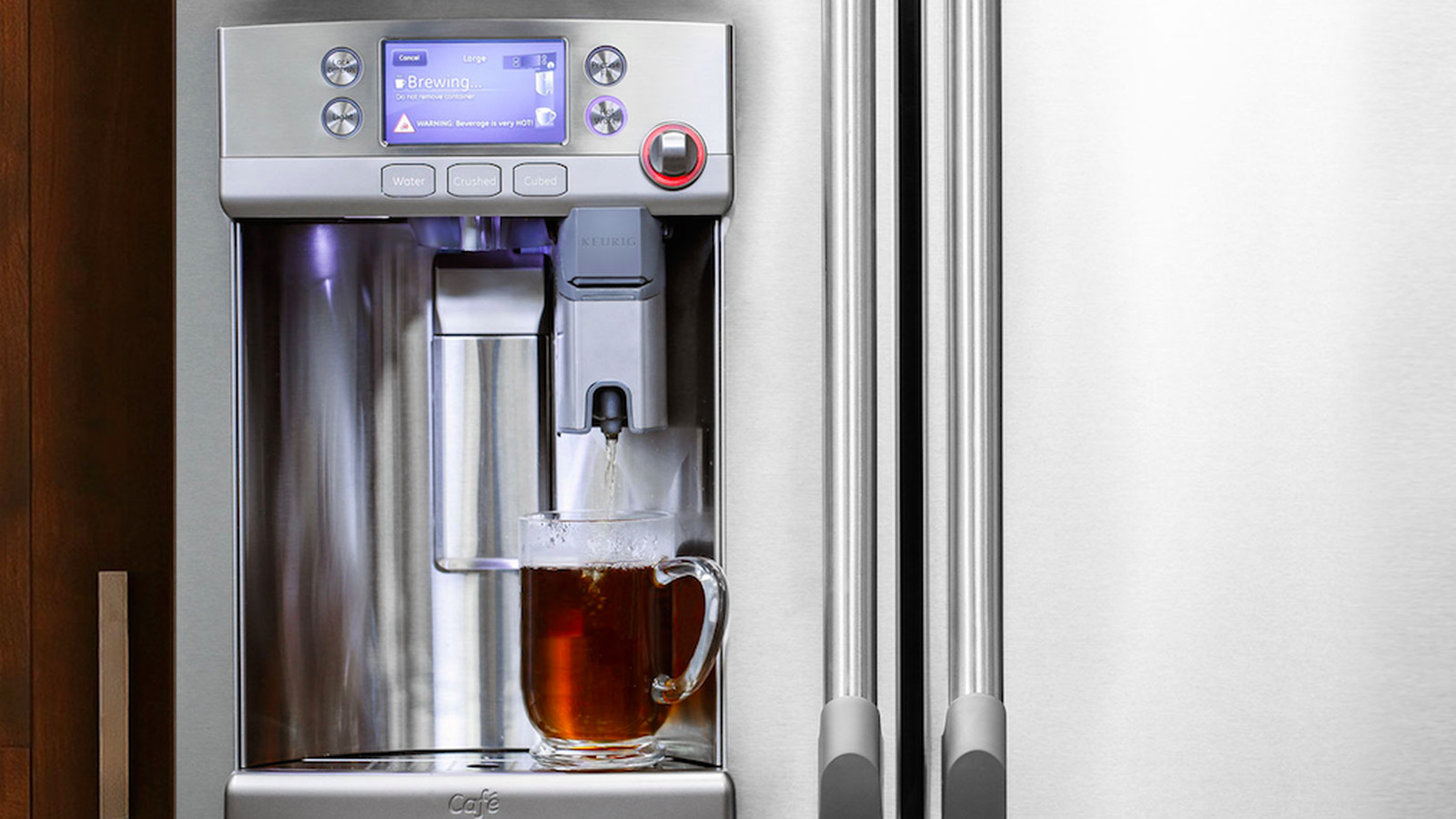 Refrigerator With Built In Coffee Maker Is Flashier Than A