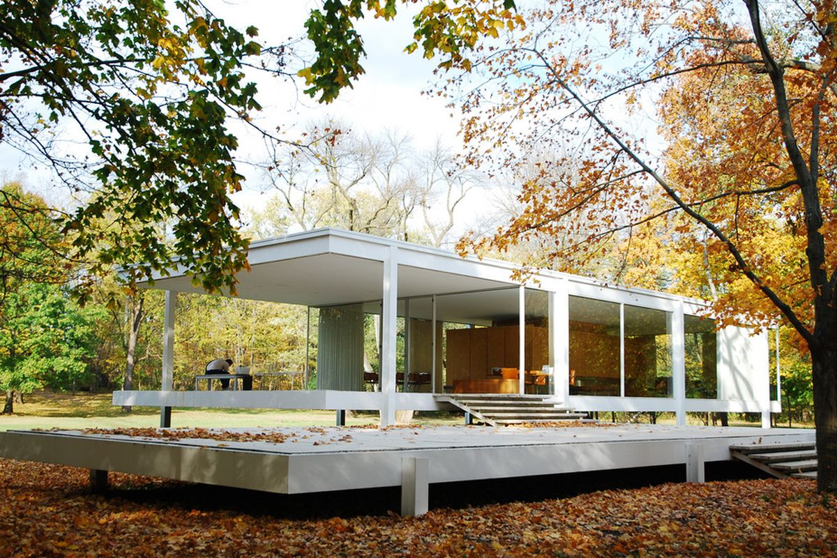 mies van der rohe and the farnsworth house will get the. Black Bedroom Furniture Sets. Home Design Ideas