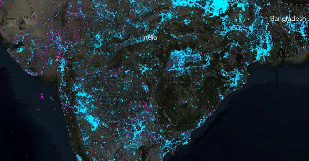 These incredible maps show how the world is dimming and brightening