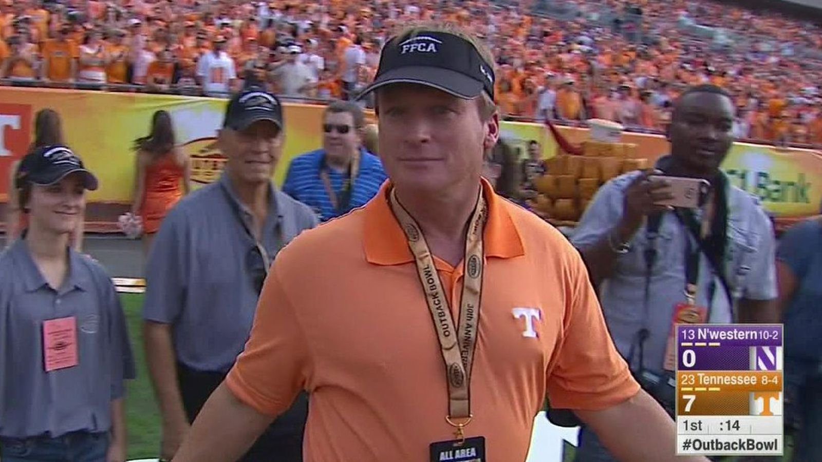 Jon Gruden On Tennessee S Sideline Fire Up Some Message
