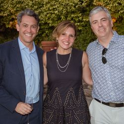 From left, Jim Bankoff (Chairman & CEO, Vox Media), Janet Balis (EY), Marcien Jenckes (Comcast)