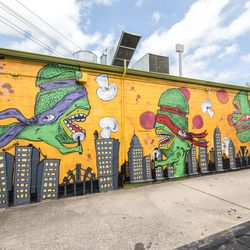 New Orleans based graffiti artists painted the murals