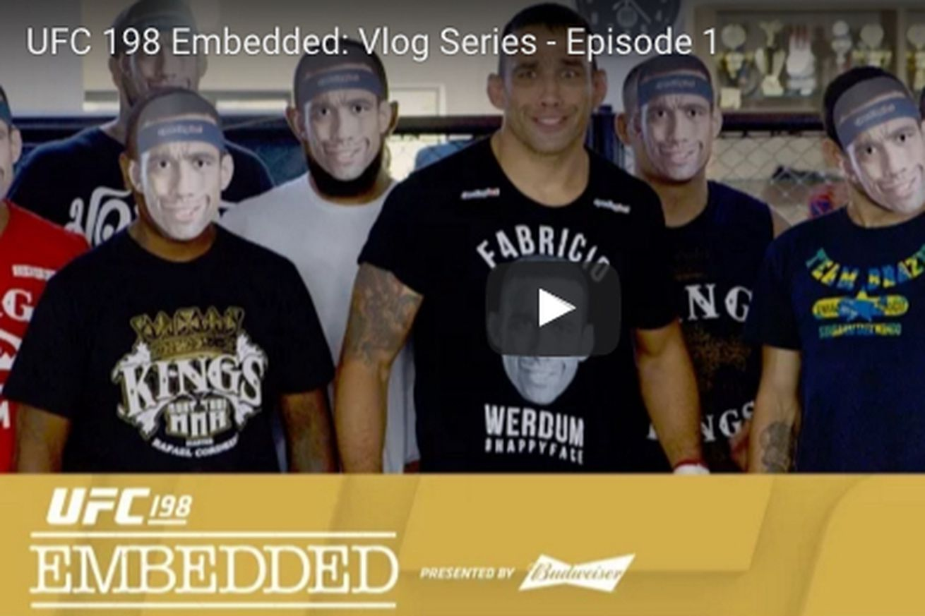 community news, UFC 198 Embedded video, Ep. 1: Fabricio Werdum has 45,000 smiley faces, Vitor Belfort likes cauliflower pizza