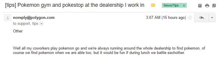 Pokemon Go tips email - dealership 740