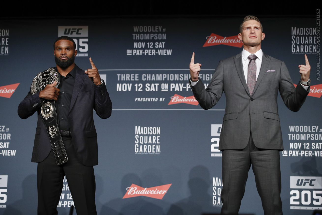 Morning Report: Tyron Woodley calls Stephen Thompson 'entitled,' threatens to give next title shot to Demian Maia