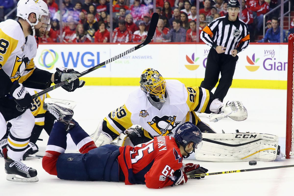 NHL Burakovsky at the double as Caps down Penguins to tie series