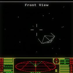 An image of the Krait ship from the original <em>Elite</em> in 1984.