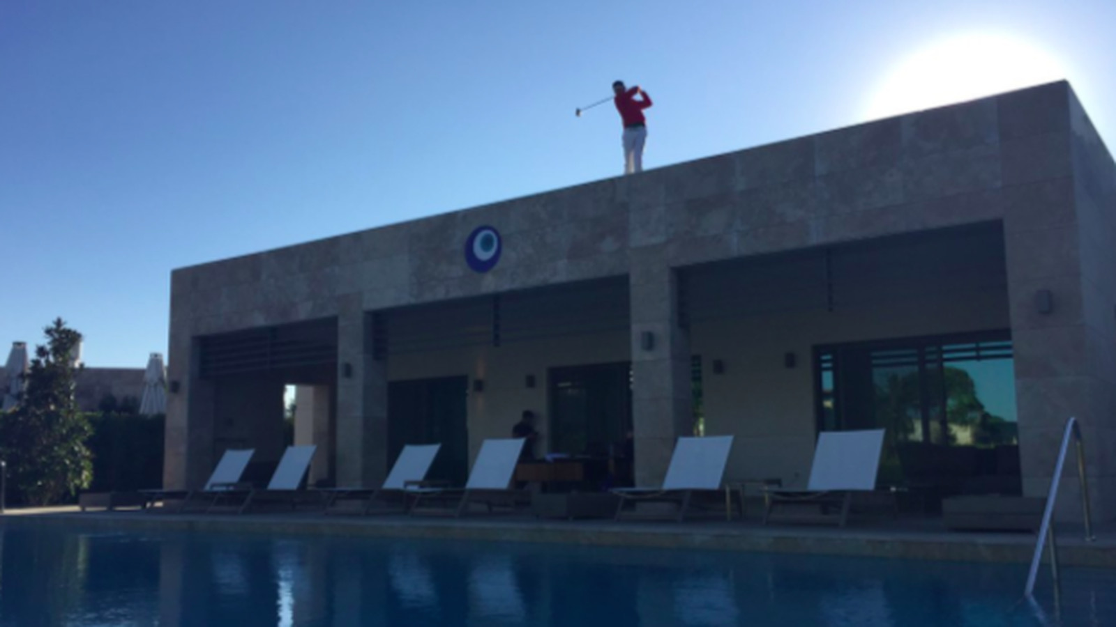 The European Tour Set Up A Rooftop Tee Box At The Turkish
