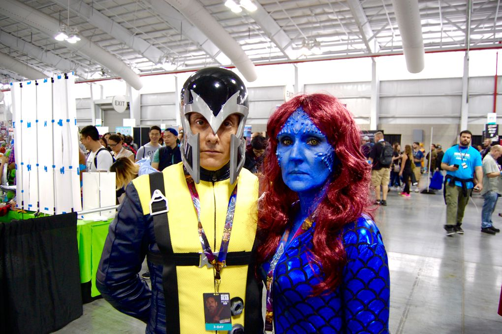 Mark Lynch and Sharon Ireland. Magneto and Mystique (X-Men, First Class)