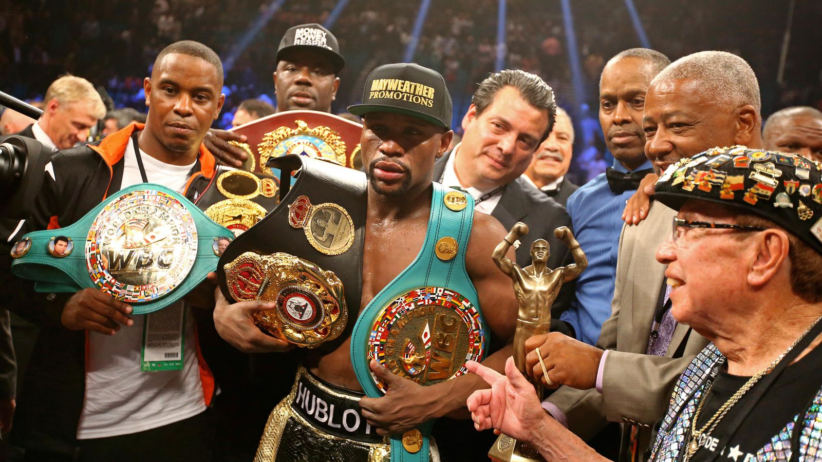 Floyd Mayweather Is Giving Up All His Title Belts But Not