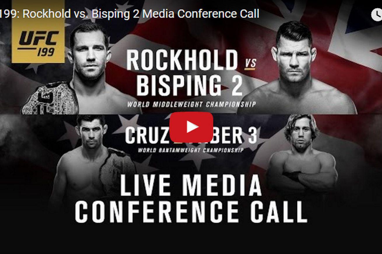 Live! UFC 199 media conference call audio stream for Rockhold vs Bisping