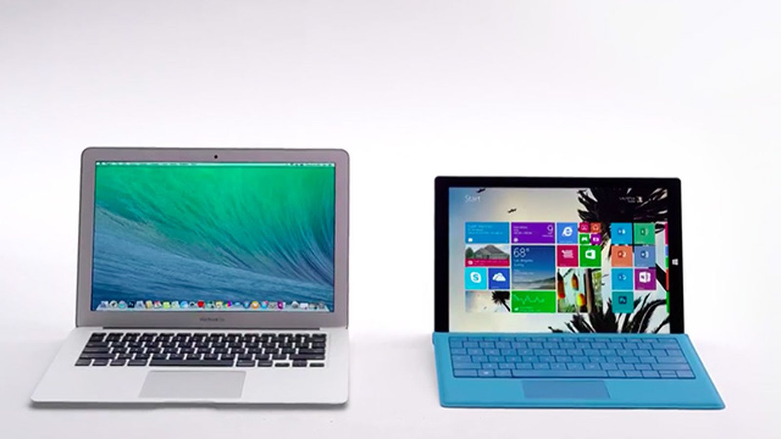 microsoft reignites mac vs  pc conflict for new surface