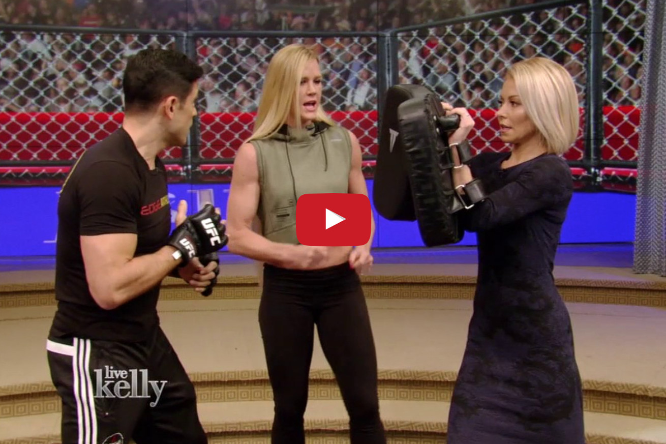 community news, Video: Holly Holm on 'Live with Kelly' promoting UFC 208