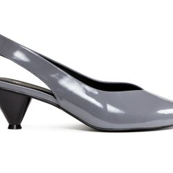 """H&M <a href=""""http://www.hm.com/us/product/59568?article=59568-A"""">Patent Slingbacks</a>, $24.99"""