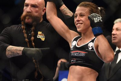 UFC Fight Night 69 results: Joanna Jedrzejczyk pounds Jessica Penne into a bloody pulp, wins by TKO in Berlin