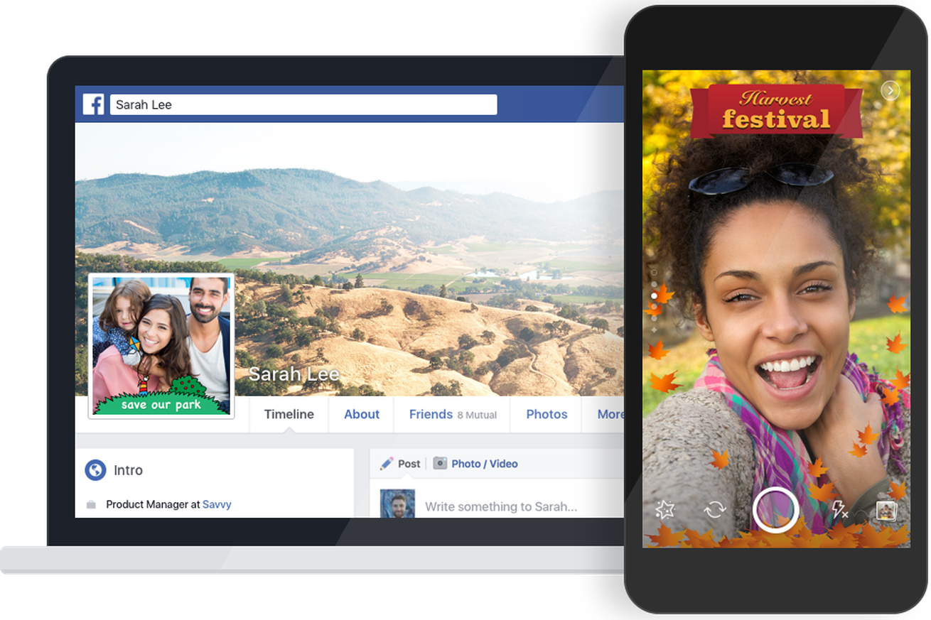 facebook now lets anyone make their own snapchat like photo frame