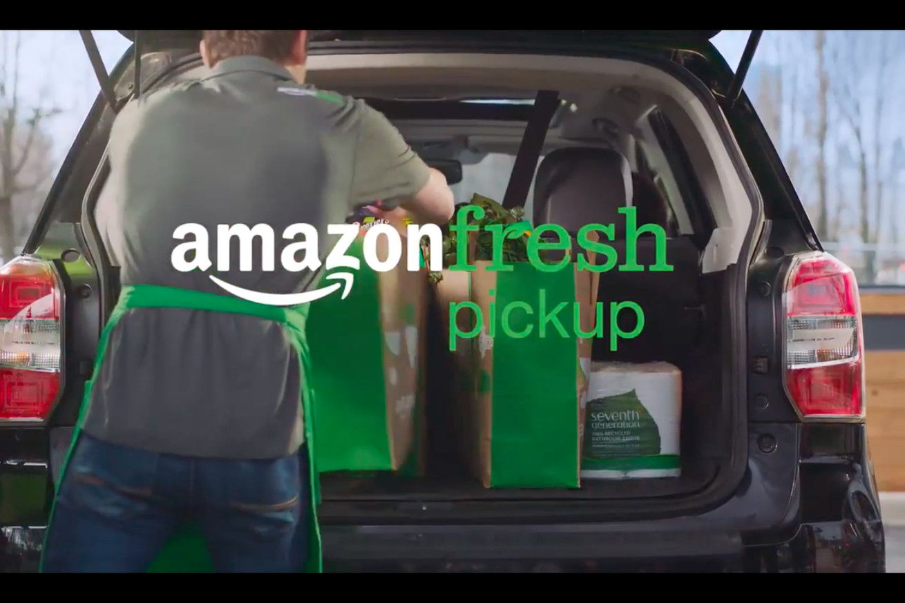 amazon launches new service to deliver groceries to your trunk
