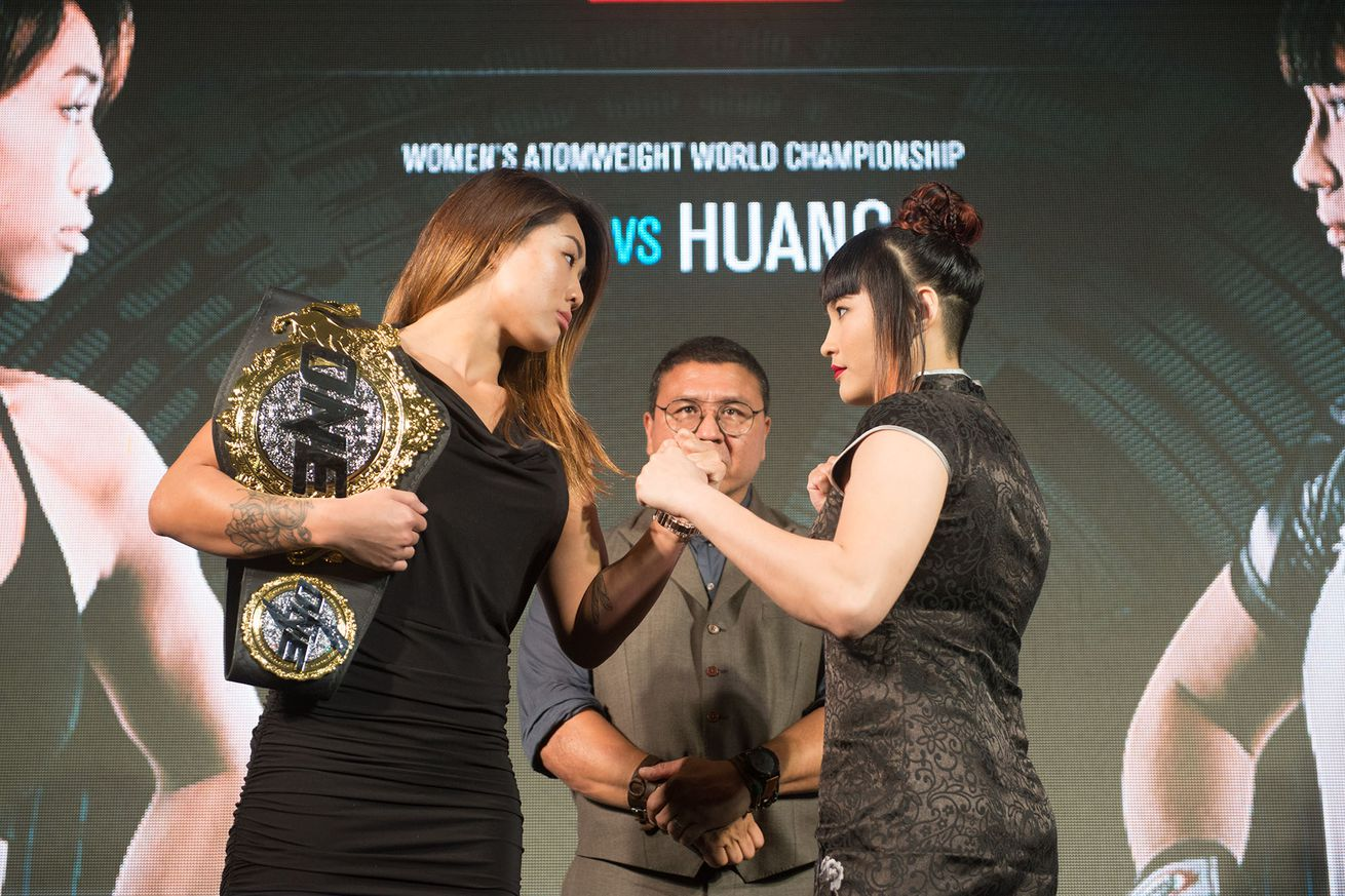 community news, Face off! Angela Lee vs Jenny Huang staredown pic from Bangkok ahead of ONE: Warrior Kingdom