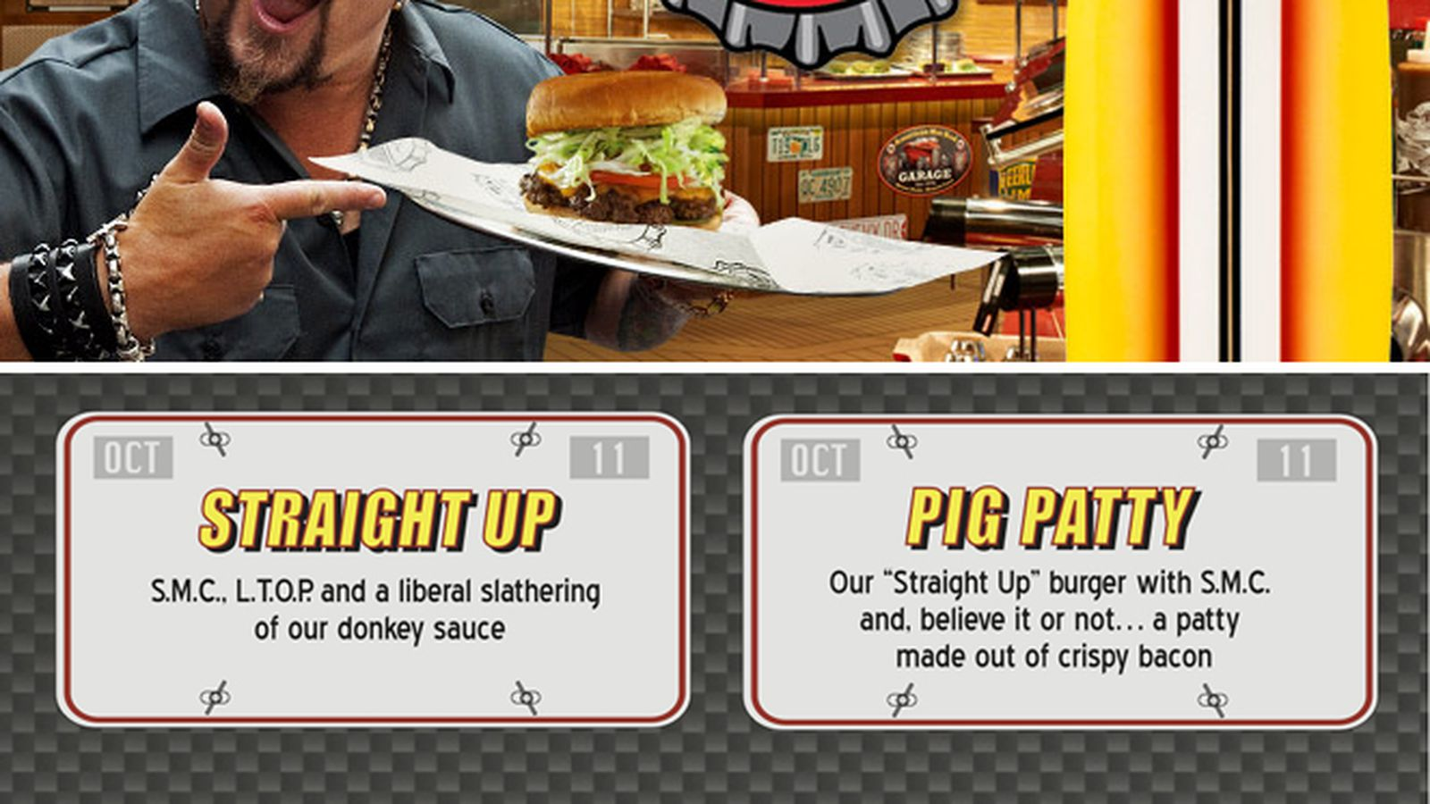 The Menu At Guy Fieri S Cruise Ship Burger Joint Is A Wonderful Parody Of Itself Eater