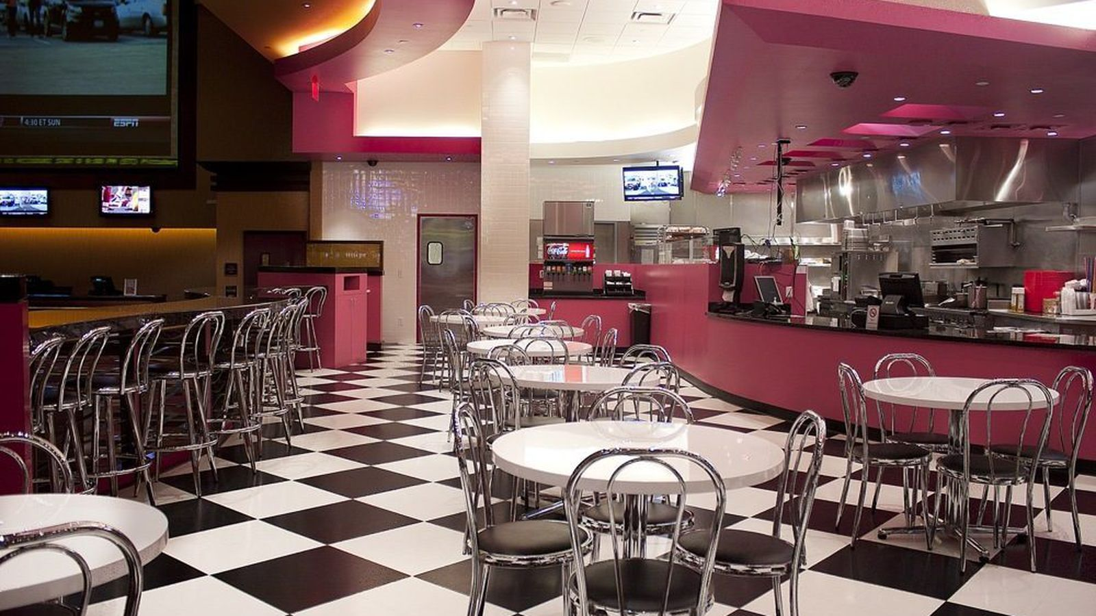 Check Out The Retro Diner Feel Of Pink S Hot Dogs Eater