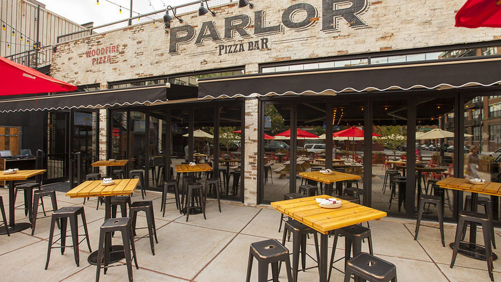 Inside And The Menus For The Massive Parlor Pizza Bar