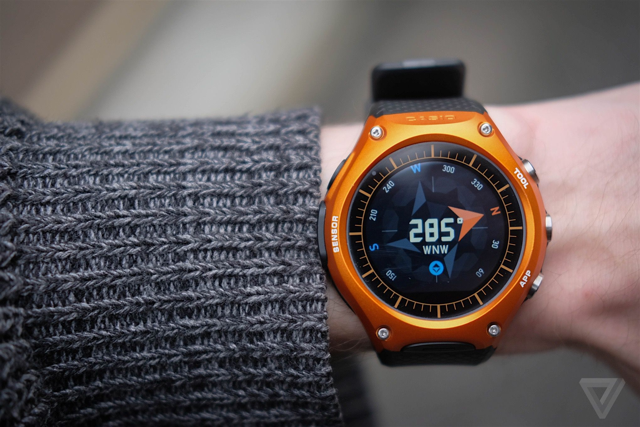 Casio smart outdoor watch review android wear climbs a mountain the verge for Mountain watches