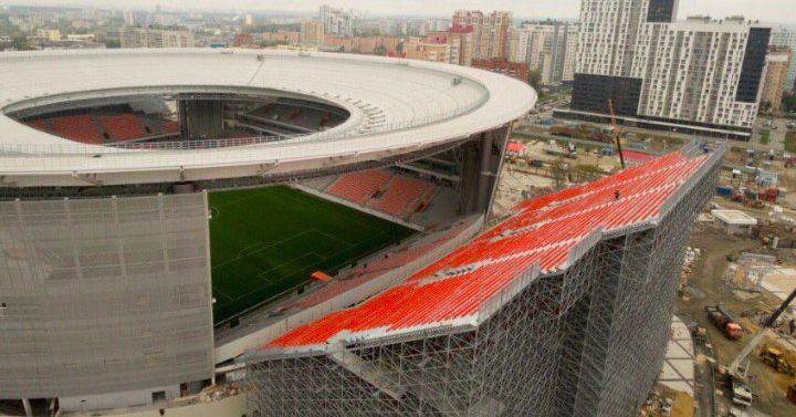 Russian Soccer Officials Add Bleachers Outside Stadium To