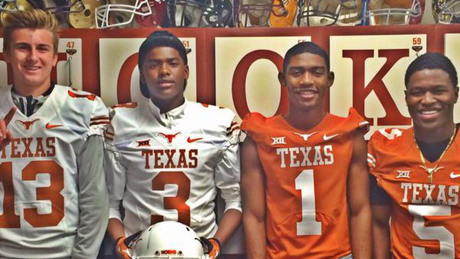 Keyshawn johnson and son visit texas burnt orange nation