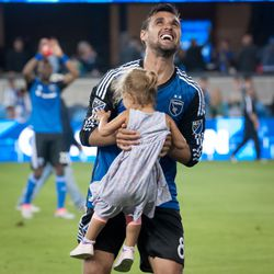 Wondo and Emersyn after the Toronto FC win.