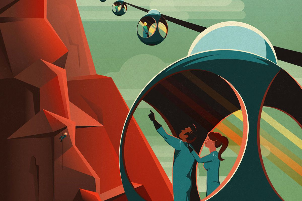SpaceX made some awesome travel posters for Mars - The Verge