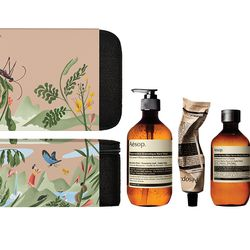 """Aesop <a href=""""http://www.aesop.com/usa/packs-and-gifts/the-avid-explorer.html"""">The Avid Explorer Gift Set</a>, $112"""