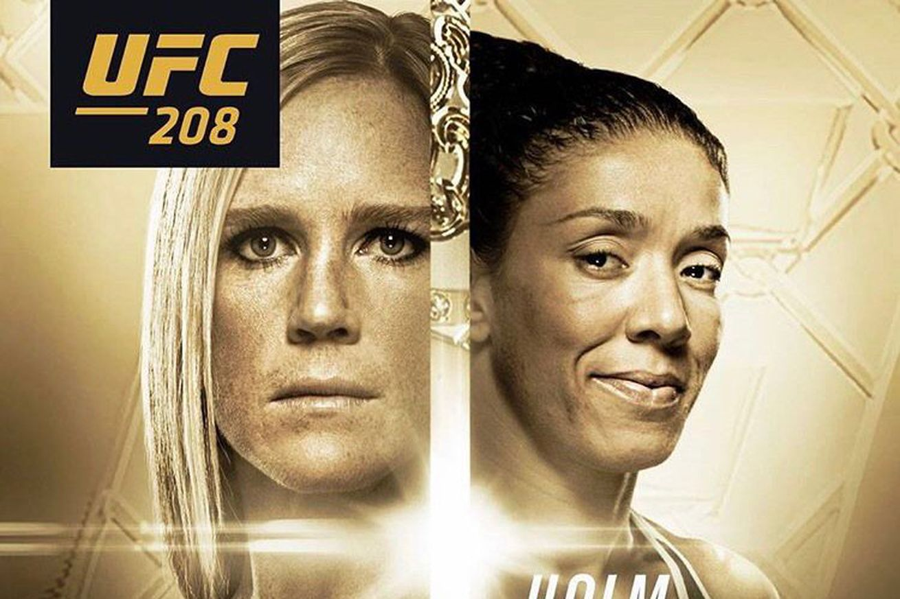 community news, Pic: UFC 208 poster first look for Holm vs. De Randamie on Feb. 11 in Brooklyn
