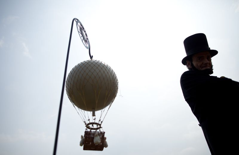 Civil War-Era Hot Air Balloon On Display On The National Mall