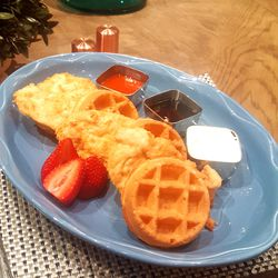 Chicken and waffles at Copper Whisk