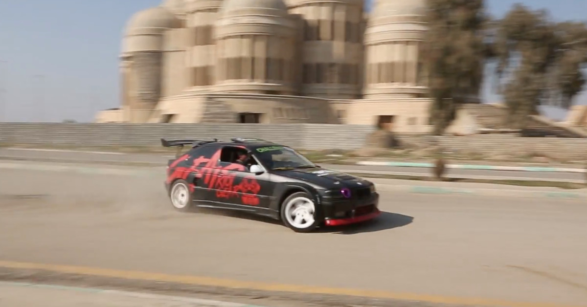 photo image Iraqis are drifting cars through the streets of Mosul to spite ISIS