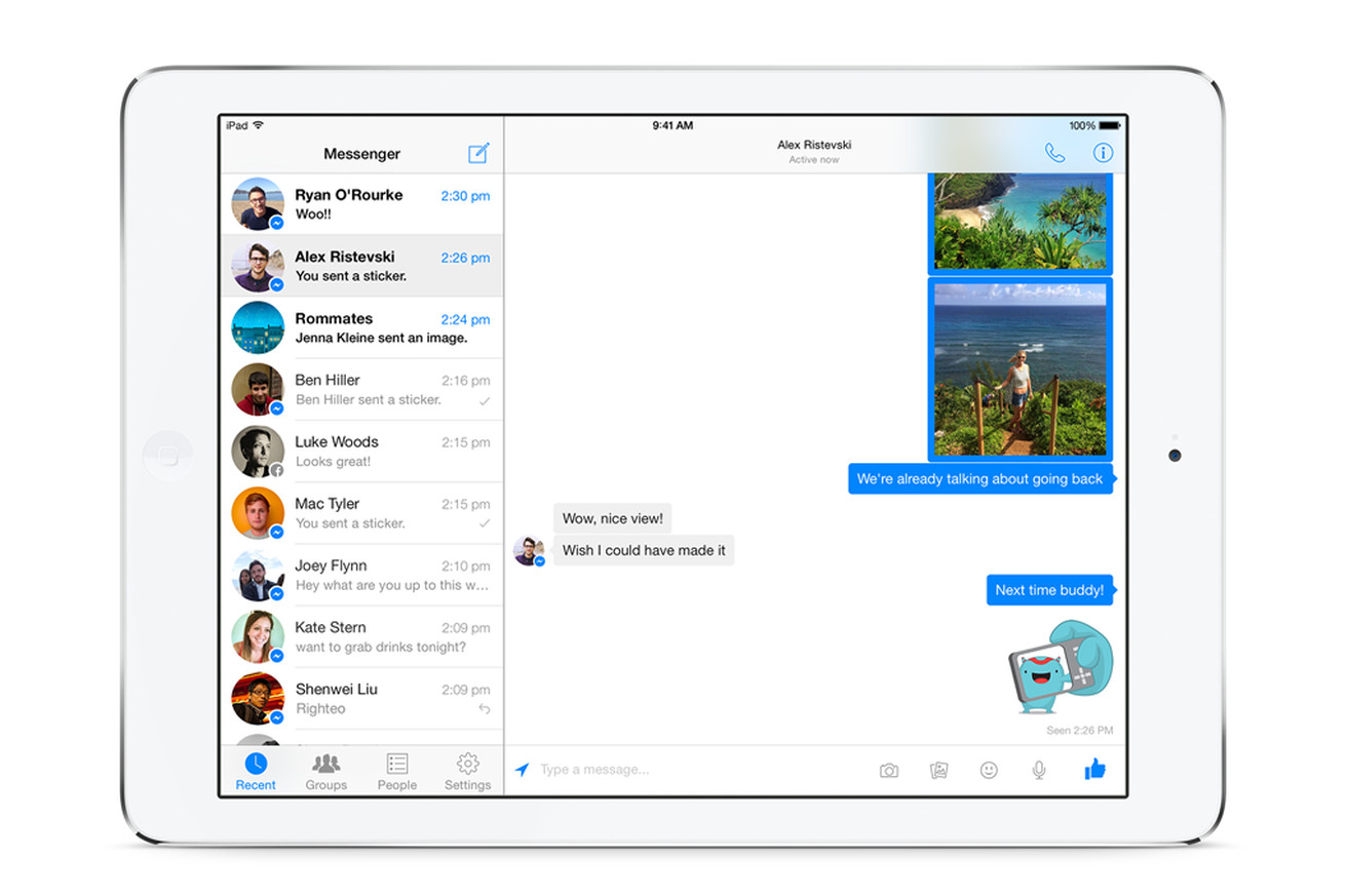 facebook messenger comes to ipad the verge