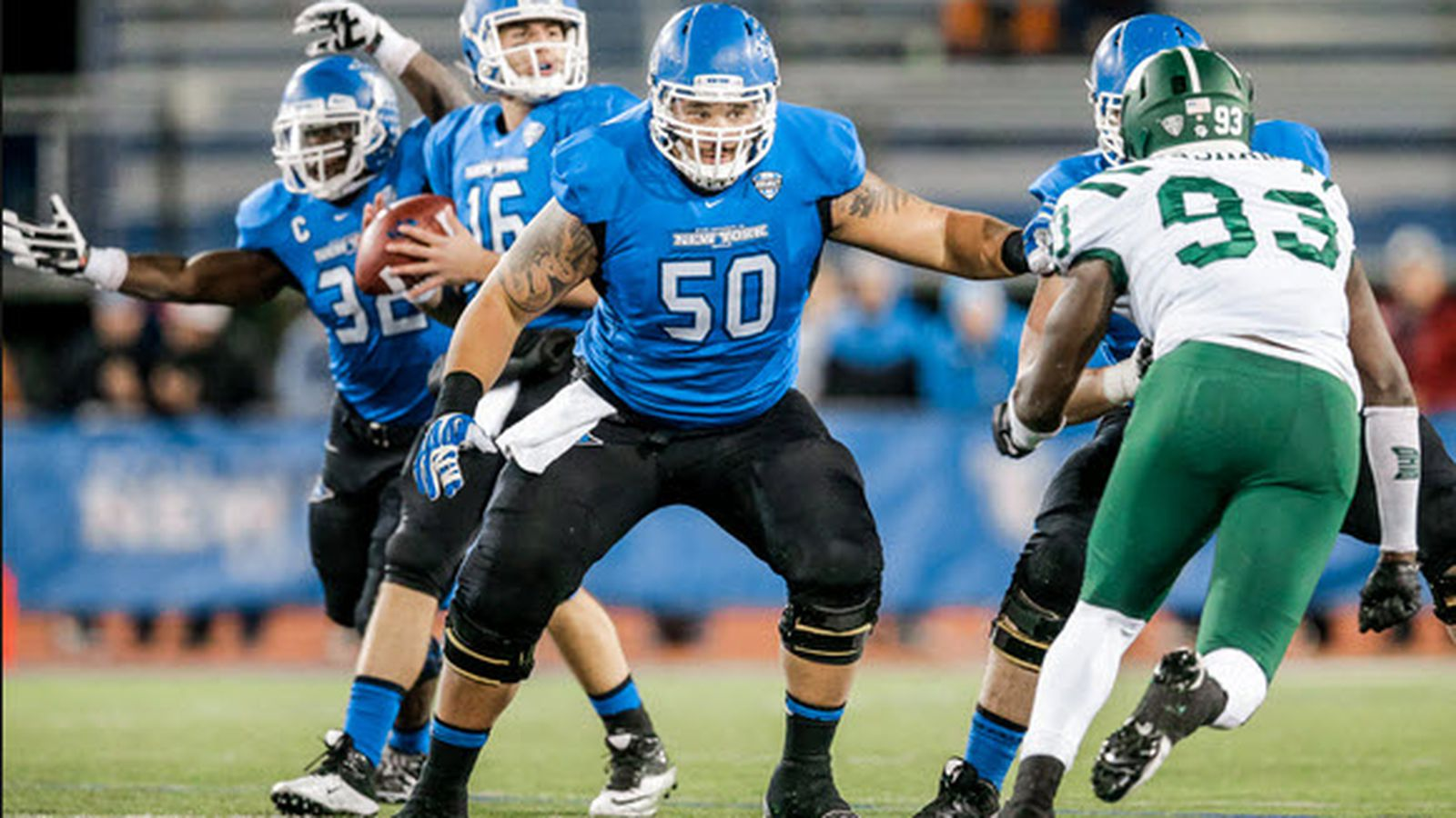 Jerseys NFL Outlet - Top MAC Football Players Of 2014: No. 37 Andre Davis, Buffalo OL ...