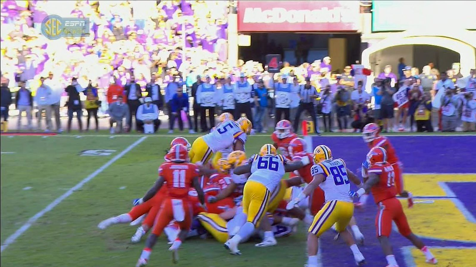 Florida Beats Lsu On This Goal Line Stand And Wins The Sec