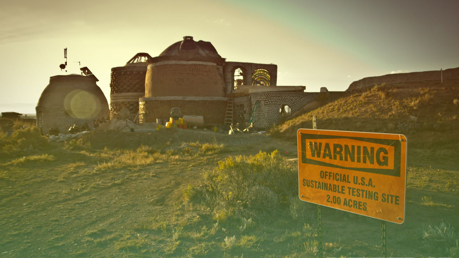Escape To Earthship Building A Home For The End Of Days
