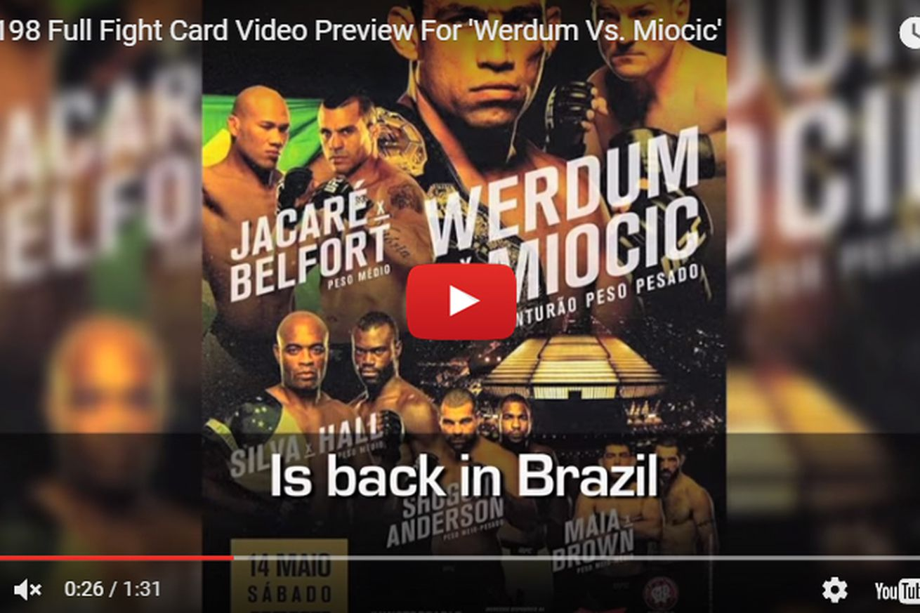 UFC 198 full fight card video preview for Werdum vs Miocic in Brazil