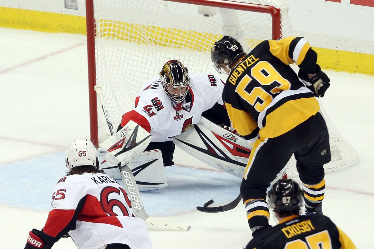 Senators chase Fleury early, rout Penguins 5-1 in Game 3