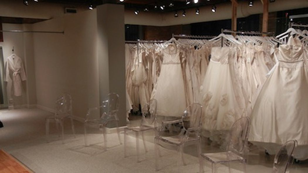 Glamour closet opens largest bridal sample store racked for Sample wedding dresses chicago