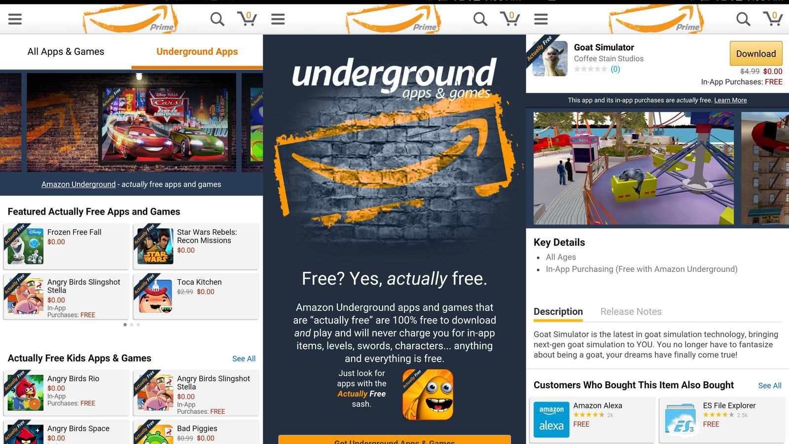 Amazon is shutting down Underground its free Android app program