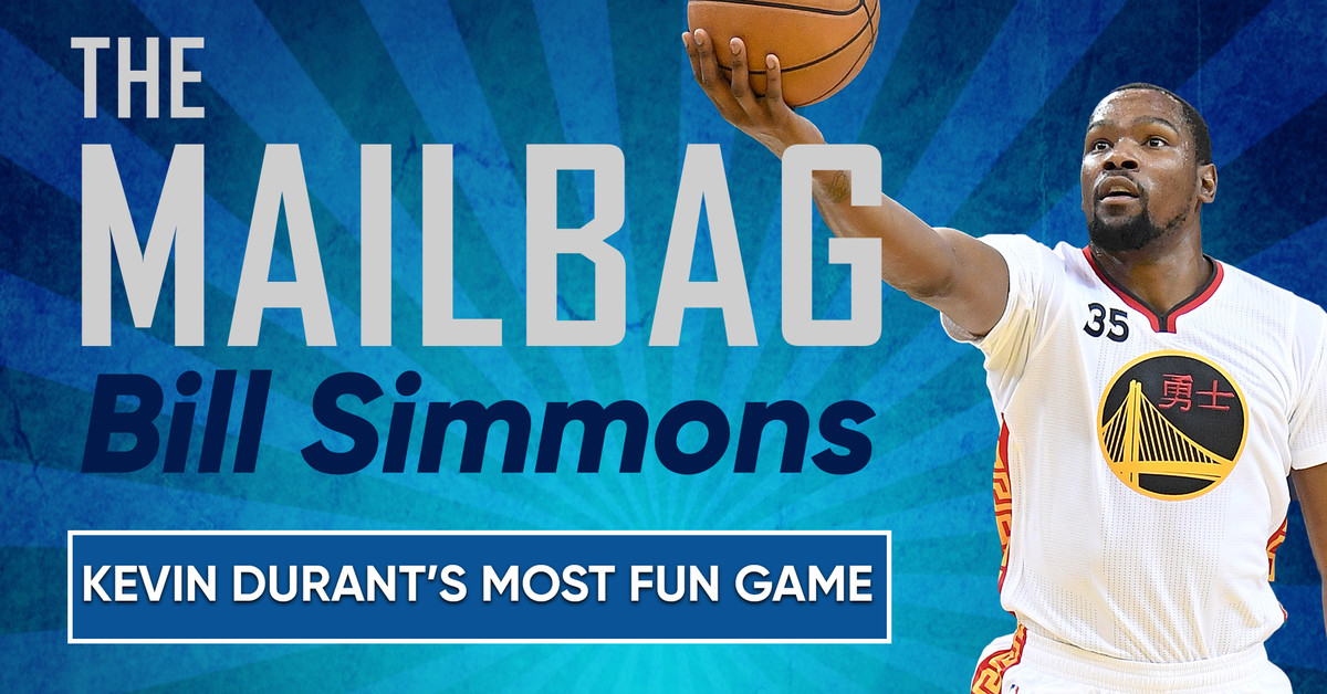The Bill Simmons Mailbag: Kevin Durant's Most Fun Game